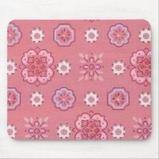 Retro Peach Lavender Mouse Pad