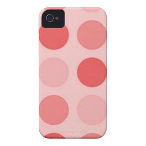 Retro Peachy Keen Peach Polkadot Case-Mate iPhone iPhone 4 Case-Mate Case
