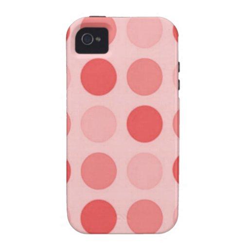 Retro Peachy Keen Peach Polkadot Case-Mate iPhone Vibe iPhone 4 Covers