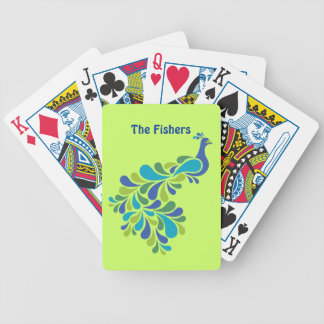 Retro Peacock Bicycle Playing Cards