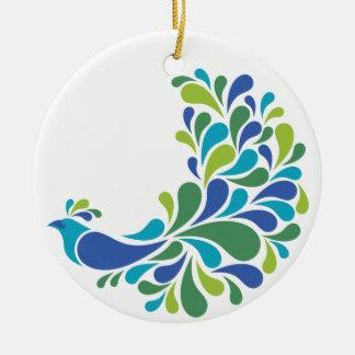 Retro Peacock Ceramic Ornament