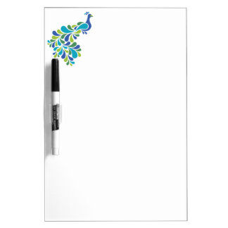 Retro Peacock Dry Erase Board