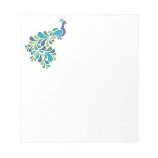 Retro Peacock Notepad