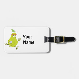 Retro Pear Runner Tag For Bags
