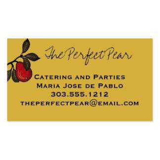 Retro Pears Fruit Business Card
