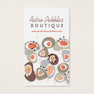 Retro Pebbles Lava Shapes Beach Pattern Groovy Fun Business Card