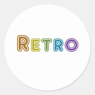 Retro Pegatina Redonda