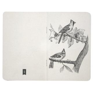 Retro personalizada pájaro del pájaro cardinal del cuaderno