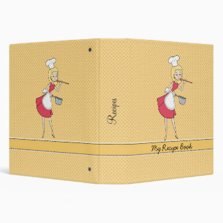Retro Personalized Recipe Binder