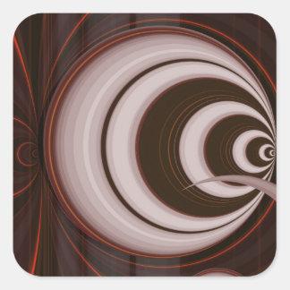 Retro perspective in orange created by Tutti Square Sticker