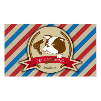 Retro Pet Grooming Service Business Card