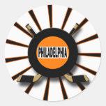 RETRO PHILADELPHIA HOCKEY CLASSIC ROUND STICKER