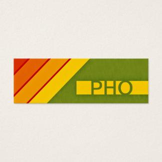 retro PHO Mini Business Card