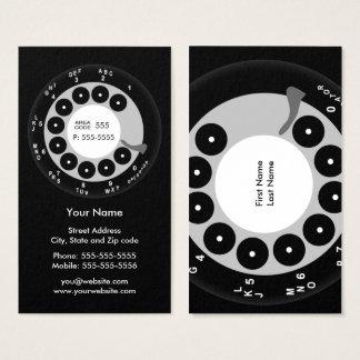 Retro Phone Black & White Business/Profile Card