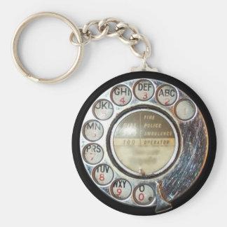 RETRO PHONE DIAL keychain