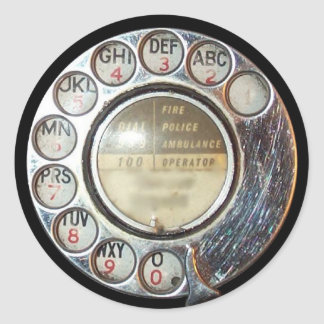 RETRO PHONE DIAL sticker