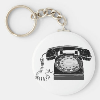 Retro Phone Keychain