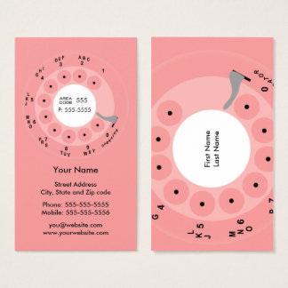 Retro Phone Pink Business/Profile Card