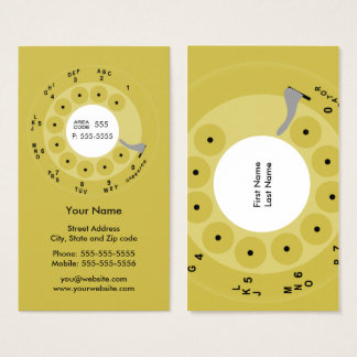 Retro Phone Yellow Business/Profile Card