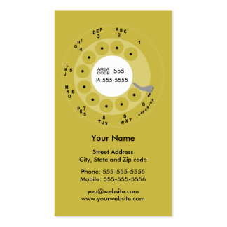 Retro Phone Yellow Business/Profile Card Double-Sided Standard Business Cards (Pack Of 100)