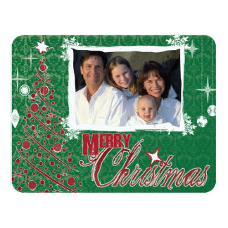 Retro Photo Holiday Letter Christmas Card