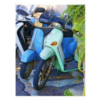 Retro Photo Italian Made Piaggio Scooters Postcard