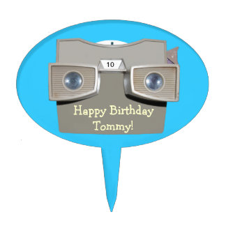 Retro Photo-reel Viewer Cake Topper