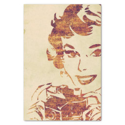 Retro photographer tissue paper