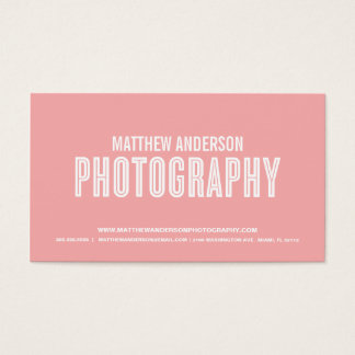 RETRO | PHOTOGRAPHY BUSINESS CARD
