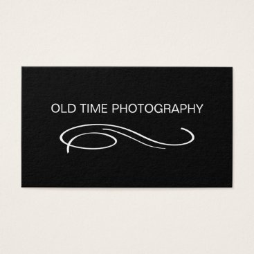 Professional Business Retro Photography Business Card