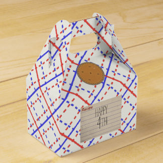 Retro Pie Party Favor Boxes