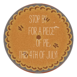 Retro Pie Party Invite