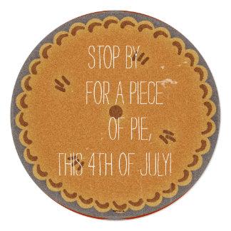 Retro Pie Party Invite