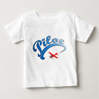 Retro Pilot graphic with Blue Text Baby T-Shirt