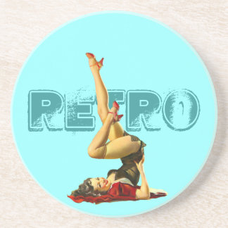 Retro Pin Up Drink Coasters
