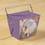 retro pin up girl floral Bridal Shower Tea Party Wedding Favor Box