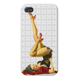 Retro Pin Up Girl iPhone 4/4S Cover