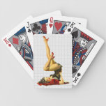Retro Pin Up Girl Playing Cards