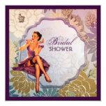 retro pin up girl rose Bridal Shower Tea Party Custom Invite