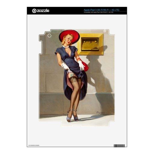 Retro Pin-Up Girl Skins For iPad 3