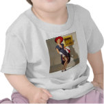 Retro Pin-Up Girl T-shirts