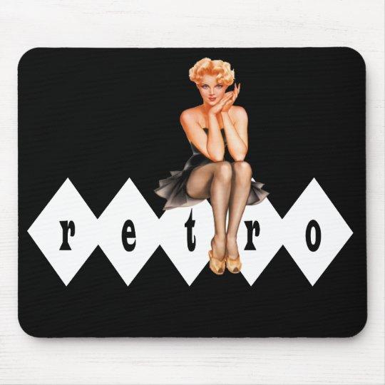 Retro Pin-Up Mouse Pad