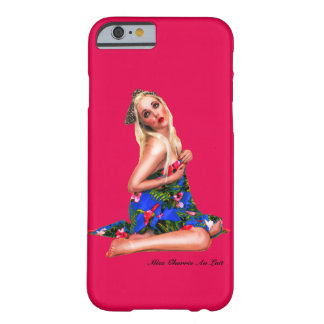 Retro Pin Up Tropical Beach Cheesecake Girl Pink Barely There iPhone 6 Case
