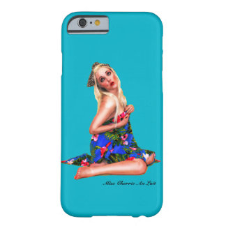 Retro Pin Up Tropical Beach Cheesecake Girl Teal Barely There iPhone 6 Case