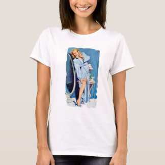 Retro Pin Up with Mirror T-Shirt