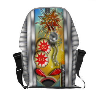 Retro Pinball Machine Illustration Courier Bag