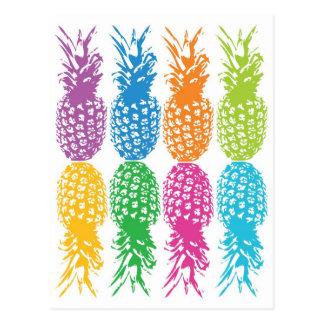 Retro Pineapple Hawaii Card Postcard