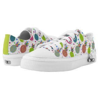 Retro Pineapple Pattern Printed Shoes