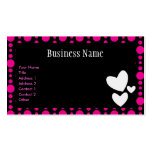 Retro Pink and Black Profile Card Business Card