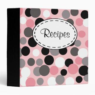 Retro Pink and Black Recipe Binder